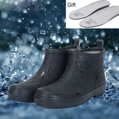 2017 new sale short black rubber rain boots man garden boots winter fishing boots for Men lightweight galoshes Winter Fishing, Fishing Boots, Garden Boots, Slip And Fall, Fish Swimming, Black Boots, Men's Boots, Fishing Humor, Black Rubber
