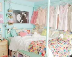 I would smile every time I walked into this room!! What an adorable little space!! (perfect for my little house)
