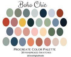 Boho Chic, Room Color Schemes, Room Colors, House Colors, Paint Colors, Colour Pallete, Bright Color Palettes, Summer Color Palettes, Color Swatches