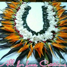 Bird of Paradise Lei w/white orchid