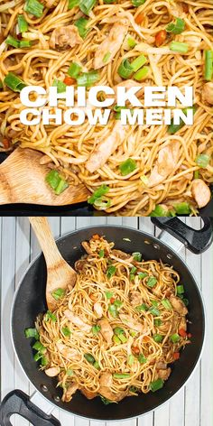 Chicken Chow Mein Recipe - How to make Chinese stir fried noodles with chicken Quick and easy Asian dinner meal ready in 20 mins This is your food if you want a healthier takeout noodle dish noodle chowmein masalaherb Asian Dinner Recipes, Easy Chinese Recipes, Easy Chicken Recipes, Indian Food Recipes, Vegetarian Recipes, Cooking Recipes, Healthy Recipes, Recipe Chicken, Asian Egg Noodle Recipes