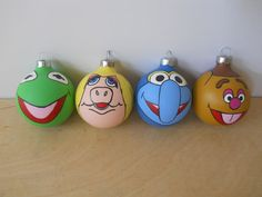 The Muppets hand painted ornament