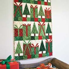 Bows and Boughs wall hanging tutorial
