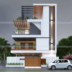 Design Discover Top Future House Designs To see more visit Modern Exterior House Designs, Modern House Facades, Latest House Designs, Modern Architecture House, Modern House Design, Exterior Design, 3 Storey House Design, Bungalow House Design, House Front Design