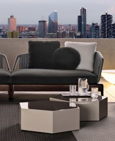 Aeron Outdoor Accent tables by Minotti