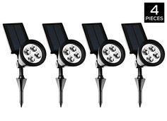 hyperikon outdoor solar spotlight waterproof led landscape lights for yard or patio outdoor dusk to dawn