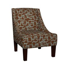 Venda Sloped Arm Chair featuring ModSquaresSeaOnBrn by ghennah | Roostery Home Decor