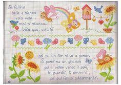 Filastrocca farfallina bella e bianca punto croce - magiedifilo.it punto croce…