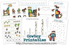All things cowboy, especially homeschool preschool, kindergarten, early elementary printables, activities, ideas