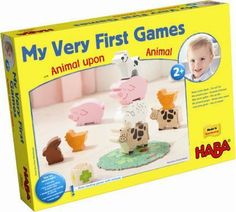 HABA My Very First Games - Animal Upon Animal by HABA. $35.32. Age 2 yrs and up. Provides for fine motor skill development.. Colorful animal figures made of select hardwoods. Meets or exceeds all European and American safety standards. Great activity for learning rules of game-playing. Made in Germany. This game by HABA is a great entrance into the world of games, made especially for the needs of toddlers and pre-schoolers. There's pandemonium on the farm! Who can stack the hen o...