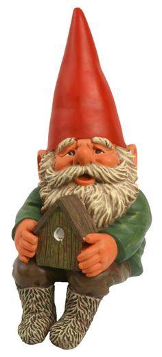 Brian with Birdhouse Garden Gnome