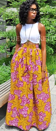 The African Print Skirt- The VICTORIA Skirt. The Victoria Maxi skirt a classic full skirt gently gathered and sits comfortably at the waist. This skirt is made from a beautiful hollandaise cotton. The Victoria skirt in this grogeous elaborate print is a fabulous must have for summer. African fashion, Ankara, kitenge, African women dresses, African prints, African men's fashion, Nigerian style, Ghanaian fashion, fashion blogger (affiliate)