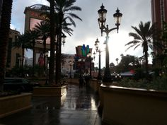 A view from Palazzo to the Strip.