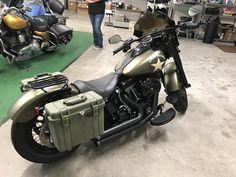 Harley Softail, Motorbikes, Harley Davidson, Army, Slim, Vehicles, Gi Joe, Military, Motorcycles