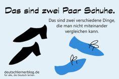 zwei Paar Schuhe - Redewendungen - Deutsch lernen