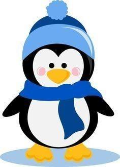 Clip Art Baby Penguin Cute Clipart - Clipart Suggest Winter Clipart, Christmas Clipart, Christmas Printables, Penguin Clipart, Penguin Cartoon, Penguin Art, Christmas Drawing, Christmas Art, Pinguin Illustration