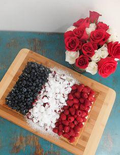 Bastille Day French Flag Cake Recipe