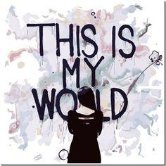 Falanca - Thıs Is My World - Kendin Tasarla - HDF Magnet 8x8cm