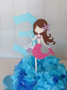 Mermaid - cake topper, decor inspiration