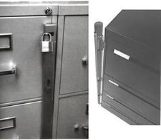 Locking Bar for Use with 4 Drawer Filing Cabinet (cabinet not included) by ABUS. $37.95. Inner and outer bar are finished in power-coat finish. Mounting screws included. Constructed of heavy 16-gauge formed steel, CABINET NOT INCLUDED.. For use with a 4-drawer filing cabinet, PADLOCK NOT INCLUDED.. Built-in spring-loaded hinge, swings clear of file doors. File Cabinet locks are an excellent way to secure your file cabinet contents and comply with HIPAA regulations. The simple ...