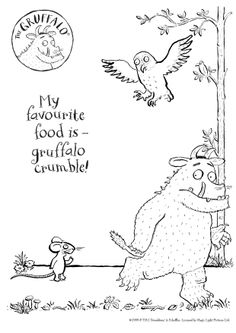 Here's a BRAND NEW colour-in Gruffalo sheet for you to print out! Enjoy!