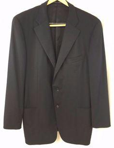 Ermenegildo Zegna Traveller Sport Coat Dark Navy Blue 46 Wool Italian Blazer #ErmenegildoZegna #ThreeButton #ErmenegildoZegnasportocoat #ErmenegildoZegnatraveller