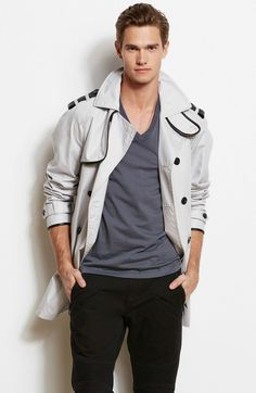 Faux Leather Trim TrenchOnline Exclusive - Jackets & Blazers - Mens - Armani Exchange
