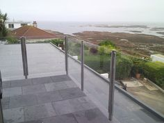 Post Channel Design, Stainless Steel and Glass Balconies, Metal Working, Channel, Sidewalk, Iron, Stainless Steel, Island, Glass, Design