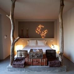 what a gorgeous headboard idea