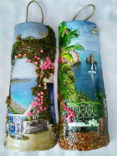 Go look at our webpage for a good deal more regarding this unique roof tiles Decoupage, Crafts To Make, Arts And Crafts, Tile Crafts, Clay Crafts, Painted Wine Bottles, Spanish Tile, Clay Tiles, Roof Tiles