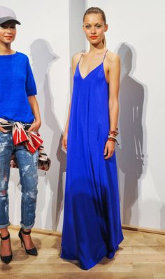 Breezy Blue Maxi Dress |  Blue Color Trend for Spring Summer 2013.  J.Crew Spring Summer 2013.   #Fashion #Trends