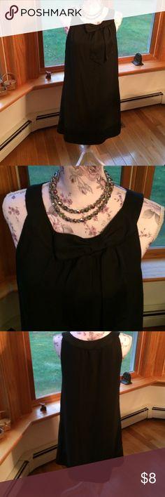 Little Black Dress Black lightweight dress with simple accent bow  on neckline. H&M Dresses Midi