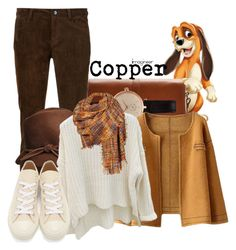 """""""Copper (The Fox and the Hound)"""" by claucrasoda ❤ liked on Polyvore featuring Joules, Barbour, Creatures Of The Wind, Play Comme des Garçons, Black Rivet and shoptilyoudrop"""