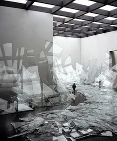 David DiMichele . broken glass, imaginary installations, 2006