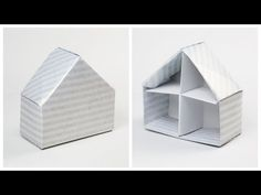 Learn how to make an origami house box! This pretty house shaped box is a unique way to give your gift for any occasion or use as a little house for toys!