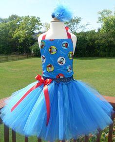 Thomas The Train Tutu Dress by 4EverTuTu on Etsy, $31.99
