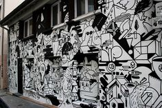 Last month we was asked to paint this house in Lyon with my friends from THTF collective. Good fun