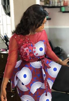 Contemporary Ankara Styles For African Ladies. Hello Ladies Is an Amazing month and we bring you some beautiful designs to start your month,Ladies here are 2020 Contemporary Ankara Styles For African Ladies To Rock. African Wear Dresses, Latest African Fashion Dresses, African Print Fashion, African Attire, Ankara Fashion, Fashion Prints, Ankara Rock, Nigerian Dress Styles, Ankara Dress Styles