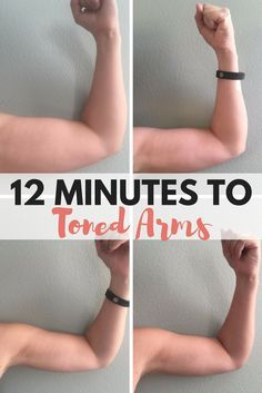 This workout only takes 12 minutes to complete and you'll get toned arms in no time. All you need are 5lb weights and some dedication!