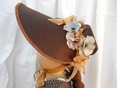 Regency style bonnet for 18 American Girl Dolls  by BirdBrainsArt,