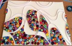Image result for quilling on canvas