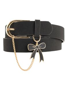 6a0a8325cbbc Chain and Bow Leather Belt in Black - Karen Walker - Shop by Designer