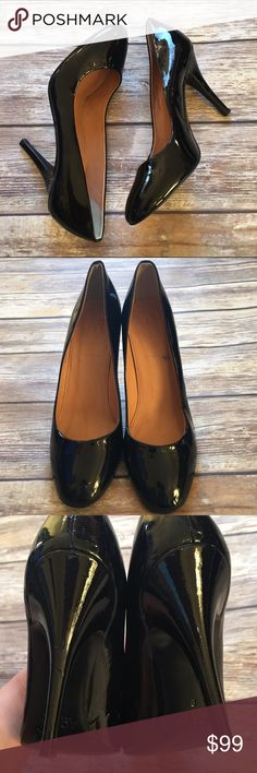 "❗️SALE❗️J.Crew Patent Leather Pumps A classic J.Crew pump that can be worn any time. Patent leather, made in Italy. Worn a few times. The left heel has two small dings that are barely visible as shown in pic 3. Size 8. Heel is 4"". J. Crew Shoes Heels"