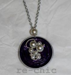 Necklace with Nespresso pods, pearls and acupuncture needles   Collana con capsule Nespresso, perle e aghi per agopuntura