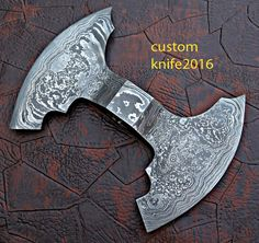 Blade Material;Hand Forged Damascus & Double Edge Pattern Random. Blade Material:1095/15N20 256 Layers. | eBay!