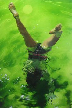 Sarah Harvey - Water Painting #art #painting #swimming