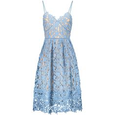Cami Crochet Flower Midi Dress Azure found on Polyvore featuring dresses, crochet cami, blue camisole, crochet camisole, blossom dress and blue dress