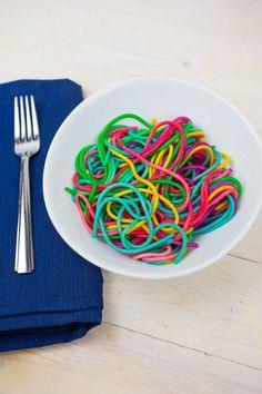 Rainbow Pasta Rainbow pasta is delicious, fun to play with and so pretty!Rainbow pasta is delicious, fun to play with and so pretty! Rainbow Pasta, Rainbow Food, Rainbow Baking, Rainbow Snacks, Rainbow Desserts, Kid Friendly Dinner, Kid Friendly Meals, Pasta Recipes Kid Friendly, Toddler Meals