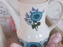 ♥ Hübsche Kaffeekanne 70er Seltmann Weiden antik ♥