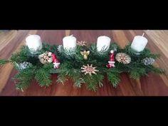 DIY - Christmas Advent Candle Arrangement - Christmas Decoration Diy Christmas, Christmas Wreaths, Christmas Decorations, Holiday Decor, Candle Arrangements, Advent Candles, Handicraft, Craft, Arts And Crafts
